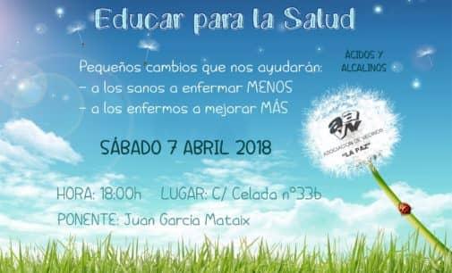 La asociación de vecinos de La Paz organiza una charla sobre Educar para la salud