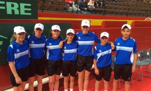Alumnos de la escuela de tenis Juan Carlos Ferrero  Equelite en la Copa Davis