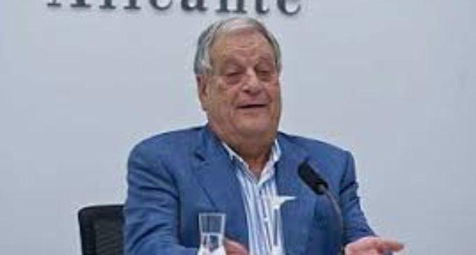 El Ayuntamiento de Villena expresa su pesar por la muerte del expresidente de la Diputación, Antonio Ferández Valenzuela