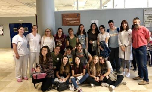 Nueva visita del Centro Integrado Público de Formación Profesional Valle de Elda al hospital