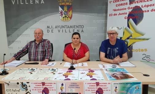 Villena acogerá el sábado el primer Certamen Nacional de Corales Juveniles Antonio García López