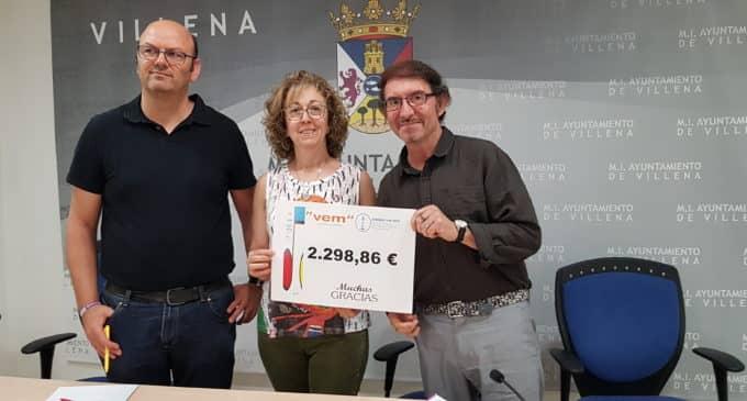 El VEM recaudó 2.300 euros solidarios para la Asociación «Juan Navío Grupo de Ayuda Mutua en el duelo por la pérdida de un ser querido»