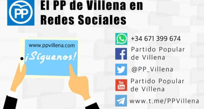 ¿Quieres recibir las noticias del PP de Villena en tu WhatsApp?