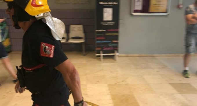 Realizan un simulacro de incendio en el Hospital de Elda