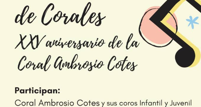 La Coral Ambrosio Cotes celebra el sábado el XIX Festival de Corales Ciudad de Villena en el Chapí