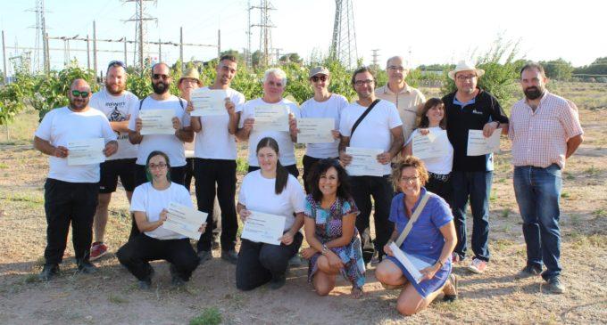 Once alumnos finalizan en Villena un curso de Agricultura Ecológica