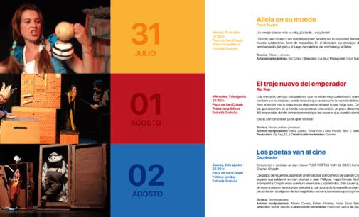 El próximo martes 31 de Julio da comienzo la 25 edición del Festival de Títeres de las Cruces