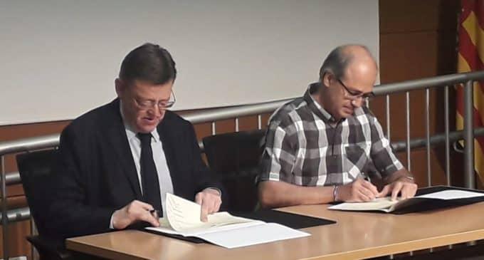 El President de la Generalitat firma en Alicante el acuerdo de los Fondos FEDER