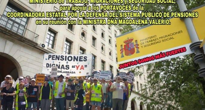 La Coordinadora Estatal por la Defensa del Sistema Público de pensiones valora la reunión con la Ministra Valerio