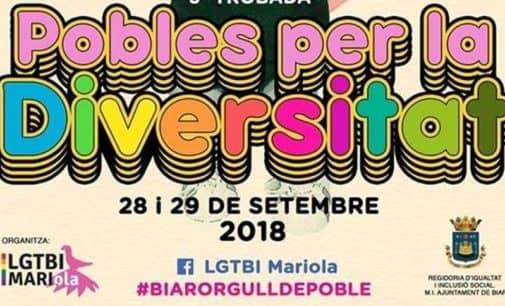 Biar acoge el 28 y 29 de septiembre la tercera Trobada de Pobles per la Diversitat del colectivo LGTBI MARIola