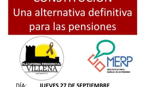 La Plataforma por la Defensa de las Pensiones Públicas se concentra hoy lunes y organiza una charla para el jueves