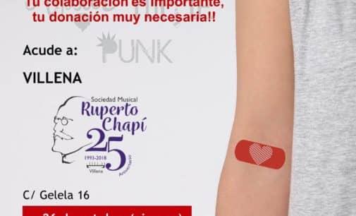 Donación de sangre en la Sociedad Musical Ruperto Chapí