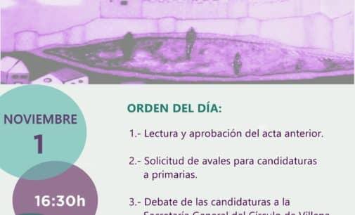 Convocatoria de Asamblea del Círculo Podemos para debatir sobre las candidaturas a la Secretaria General