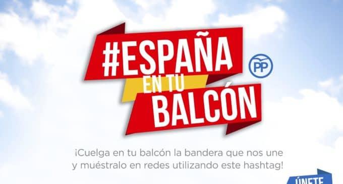 El Partido Popular lanza en redes sociales la campaña `España en tu balcón´