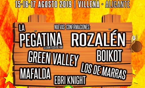 Rabolagartija incorpora siete bandas más a su cartel