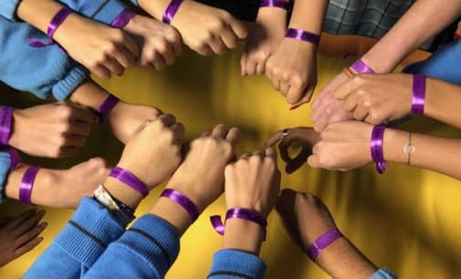 El colegio Paulas une sus manos para eliminar la violencia de género