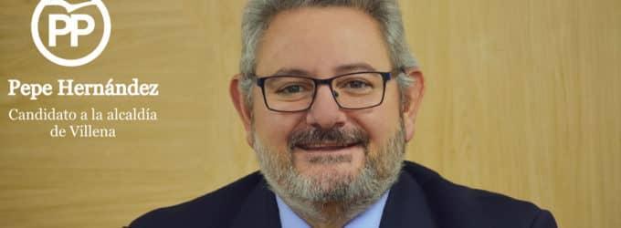 El PP anuncia que Pepe Hernández es su candidato a la Alcaldia de Villena