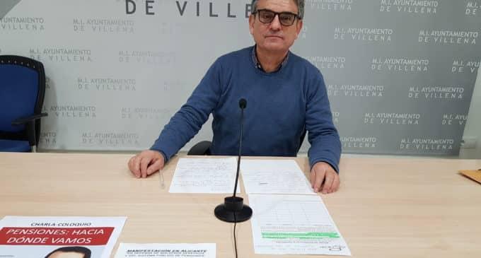 La Plataforma por las Pensiones de Villena anima a la participación en una manifestación en Alicante