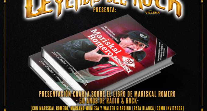 """Leyendas del Rock trae a Villena la presentación del libro """"Mariskal Romero – 50 años de Radio & Rock"""""""