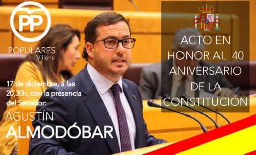 El PP celebrará un acto por el 40 aniversario de la Constitución con la presencia del senador Agustín Almodobar