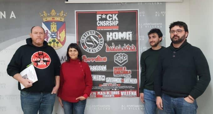 """El festival """"F*ck Censorship"""" ofrecerá en Villena casi ocho horas ininterrumpidas de punk rock nacional"""