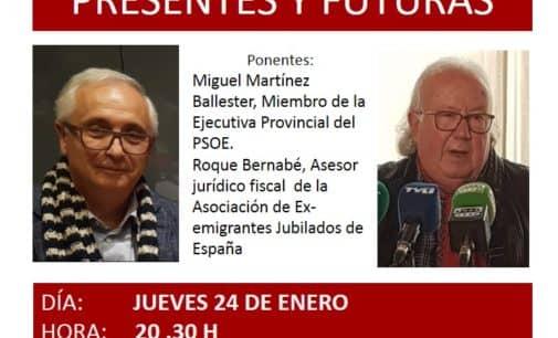 La Plataforma Local por la Defensa de las Pensiones Públicas de Villena organiza una nueva charla informativa