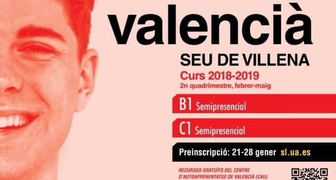 La UA oferta nuevos cursos de valenciano en la sede de Villena