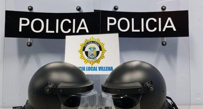 La Policía Local de Villena adquiere material de defensa y autoprotección