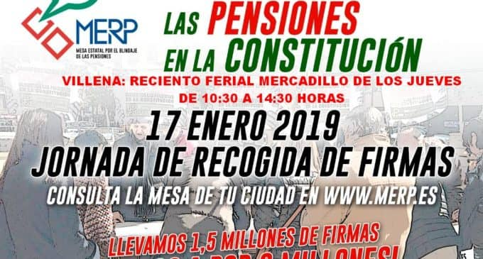 La Plataforma Local por la Defensa del Sistema Público de Pensiones lleva recogidas 3.000 firmas pidiendo el blindaje de las pensiones