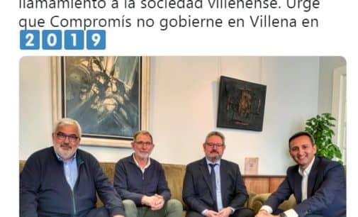 """César Sánchez:""""Urge que no gobierne Compromís en Villena"""""""