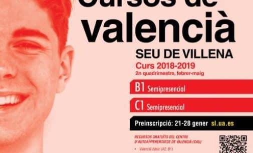 Abierta la inscripción para los cursos de valenciano de la Sede Universitaria