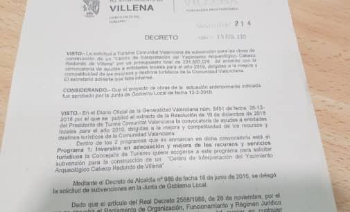 El alcalde pide una ayuda a Conselleria para las obras de Cabezo Redondo