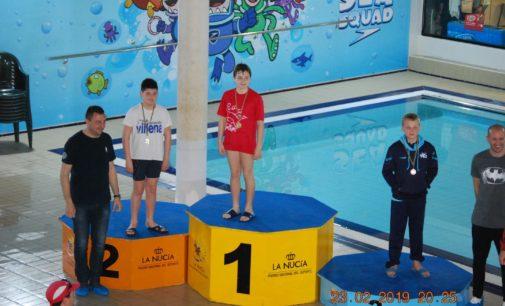 Dos podiums de natación para Sergio Martínez y Álvaro Suarez en la Nucía