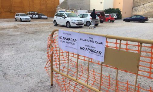 Villena se queda sin el aparcamiento situado entre Cristóbal Amorós e Isaac Albéniz