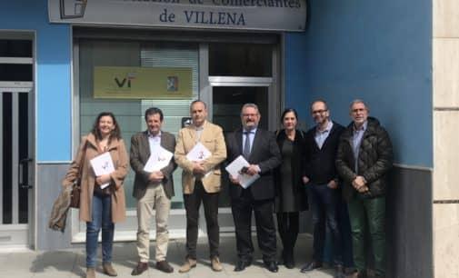 Pepe Císcar se reúne con los comerciantes de Villena