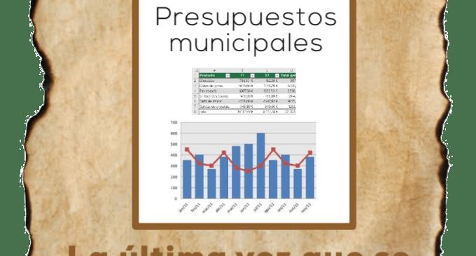 Se busca: presupuestos municipales, desaparecidos desde 2017