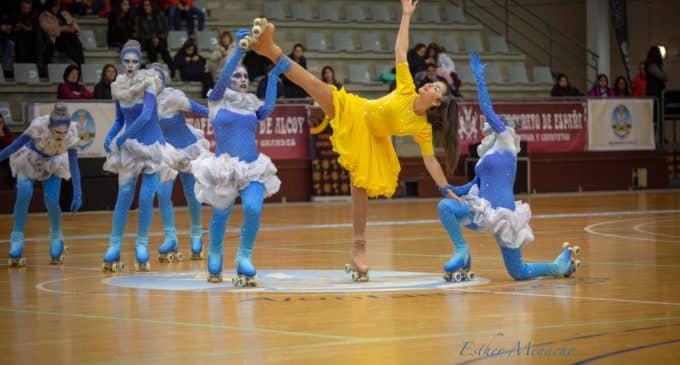 Digna participación del grupo Show del Club Patinaje Villena en el IV Trofeo Ciudad de Alcoy