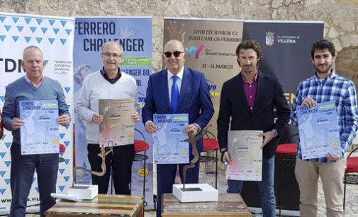 Parte de la recaudación de dos torneos de tenis que se celebrarán en la academia JC Ferrero se destinarán a 4 asociaciones de Villena