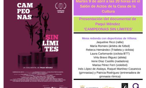 """Proyectarán  el documental """"Campeonas sin límites"""" en la Casa de Cultura"""