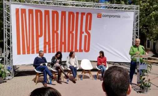 Oltra propone en Villena  una ley de cambio climático y la reducción de la jornada laboral