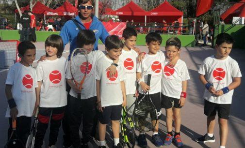 La escuela de tenis del CAMV en la Xpress Tenis Cup de la Fundación Jesús Serra