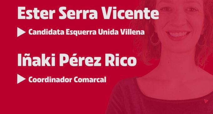 Presentación candidatura de Esquerra Unida Villena