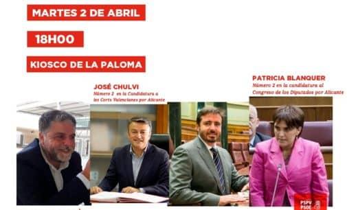 El martes visitan Villena los diputados socialistas Patricia Blanquer y Herick Campos