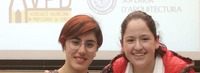 Dos alumnas del IES Las Fuentes finalistas en las Olimpiadas de Dibujo Artístico de la Comunidad Valenciana