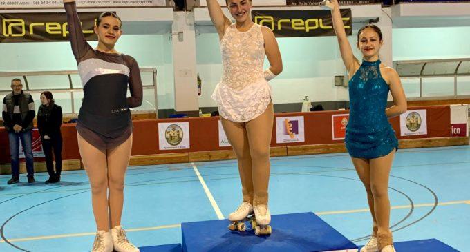Lara Estevan Ortín del Club Patinaje Villena, clasificada para el campeonato autonómico de patinaje artístico