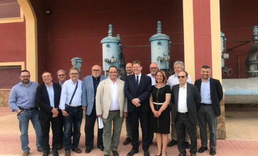 """Ximo Puig: """"Garantizar el agua es riqueza, es futuro y los socialistas trabajamos por aportar una solución estructural que la garantice para siempre"""""""
