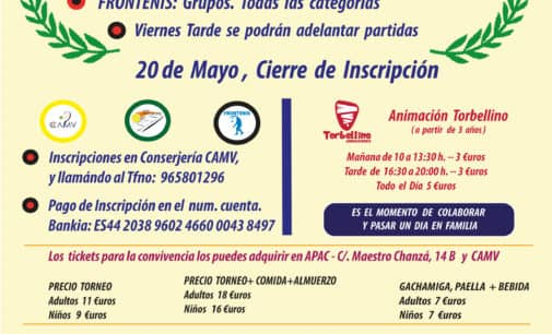Torneo Benéfico APAC en el Círculo Agrícola