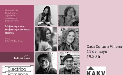 """Las """"Mujeres que veo y las mujeres que conozco""""  de Villena en un nuevo libro de relatos en la Casa de Cultura"""