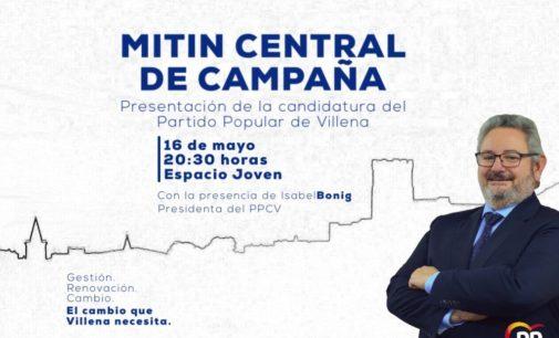 Pepe Hernández realizará su acto central de campaña hoy a las 20:30h en el espacio joven