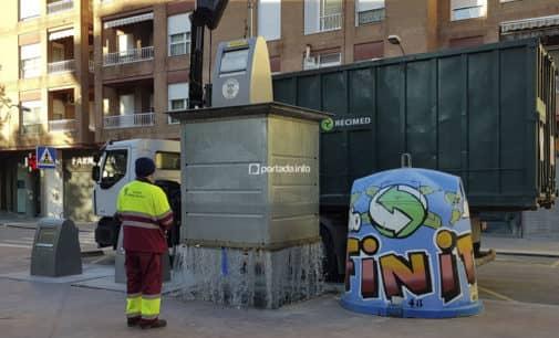Villena recicla casi un 30% más de envases ligeros en el primer mes de la campaña El Reto del Reciclaje